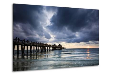 Evening at Naples Pier, Naples, Florida, Usa-Brian Jannsen-Metal Print