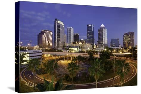 Morning Twilight over the Skyline of Tampa, Florida, Usa-Brian Jannsen-Stretched Canvas Print