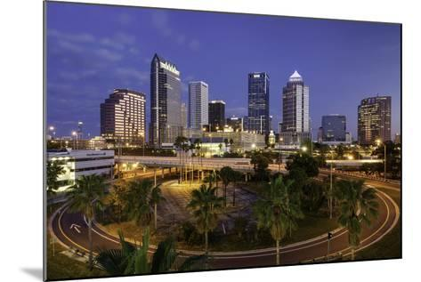 Morning Twilight over the Skyline of Tampa, Florida, Usa-Brian Jannsen-Mounted Photographic Print