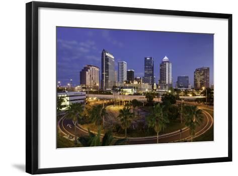 Morning Twilight over the Skyline of Tampa, Florida, Usa-Brian Jannsen-Framed Art Print
