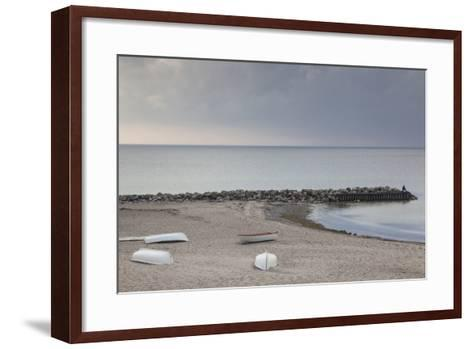 Denmark, Zealand, Tisvildeleje, View of Hesselo Bay-Walter Bibikow-Framed Art Print