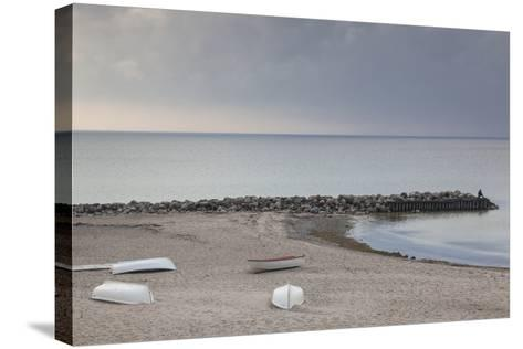 Denmark, Zealand, Tisvildeleje, View of Hesselo Bay-Walter Bibikow-Stretched Canvas Print