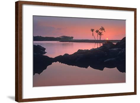 Kiholo Bay, the Big Island, Hawaii, Usa-Tim Fitzharris-Framed Art Print