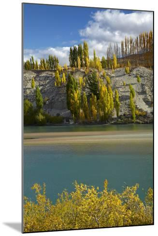 Autumn Colour at Bannockburn, and Kawarau Arm of Lake Dunstan, South Island, New Zealand-David Wall-Mounted Photographic Print
