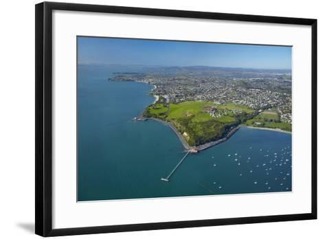 Orakei Wharf and Bastion Point, Auckland, North Island, New Zealand-David Wall-Framed Art Print