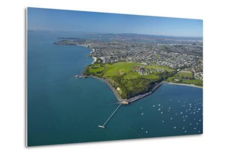 Orakei Wharf and Bastion Point, Auckland, North Island, New Zealand-David Wall-Metal Print
