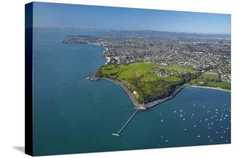 Orakei Wharf and Bastion Point, Auckland, North Island, New Zealand-David Wall-Stretched Canvas Print