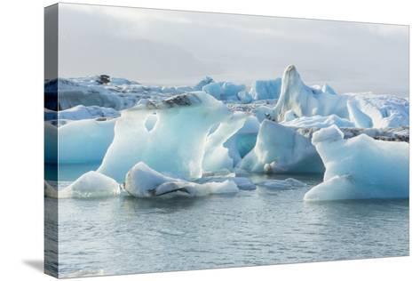 Iceland. Jokulsarlon Glaciers and Icebergs , Southeast Iceland-Bill Bachmann-Stretched Canvas Print