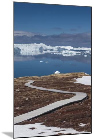 Greenland, Disko Bay, Ilulissat, Sermermiut Ruins Hike, Hiking Walkway-Walter Bibikow-Mounted Photographic Print
