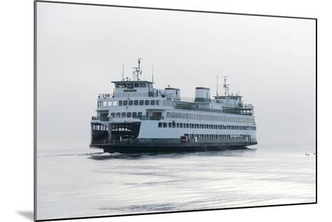 Washington State, Puget Sound. Ferry with Dense Fog Bank Limiting Visibility-Trish Drury-Mounted Photographic Print
