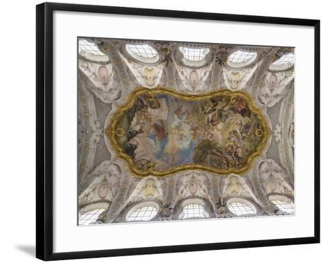 Regensburg in Bavaria, the Old Town. the Papal Basilica Sankt Emmeram Zu Regensburg. Germany-Martin Zwick-Framed Art Print