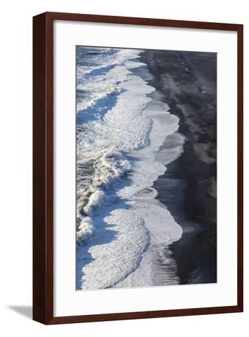 Black Sand Beach Near Vik, Iceland-Chuck Haney-Framed Art Print