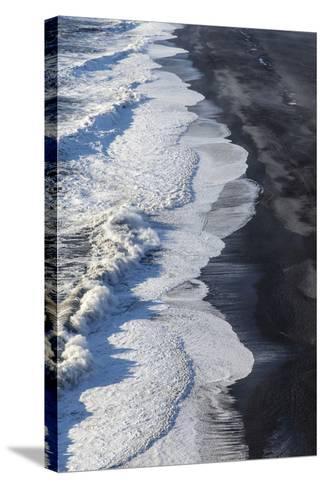 Black Sand Beach Near Vik, Iceland-Chuck Haney-Stretched Canvas Print