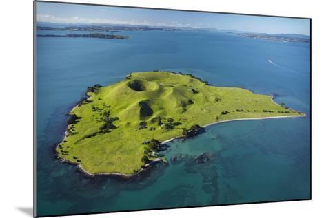 Volcanic Craters on Browns Island, or Motokorea, Hauraki Gulf, Auckland, North Island, New Zealand-David Wall-Mounted Photographic Print