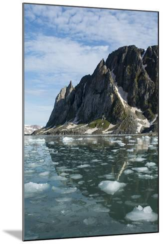 Norway, Barents Sea, Svalbard, Spitsbergen. Hamiltonbukukta, Raudfjord. Floating Ice in Calm Bay-Cindy Miller Hopkins-Mounted Photographic Print