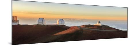 Panorama. Sunset at Maunakea Observatory. Hawaii. Usa-Tom Norring-Mounted Photographic Print