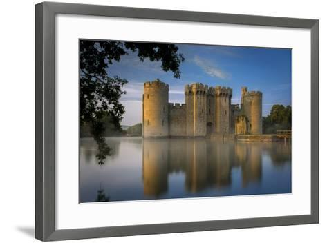 Dawn at Bodiam Castle, Bodiam, Robertsbridge, East Sussex, England-Brian Jannsen-Framed Art Print