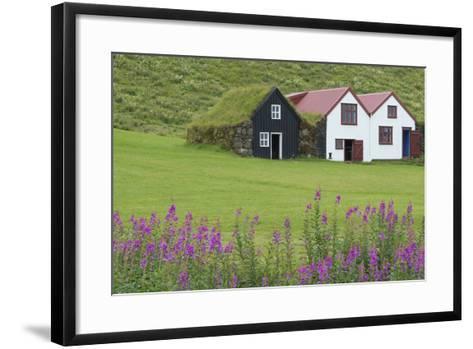 Skogasafn Turf Houses and Church in South Iceland-Bill Bachmann-Framed Art Print