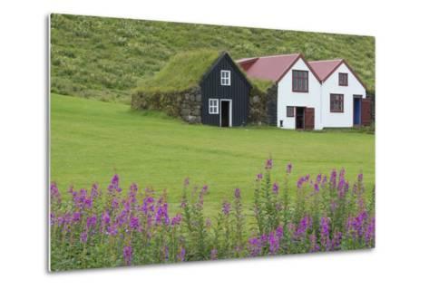 Skogasafn Turf Houses and Church in South Iceland-Bill Bachmann-Metal Print