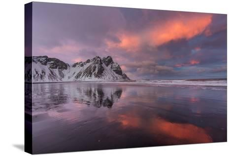 Vestrahorn Mountain in Winter Near Hofn, Iceland-Chuck Haney-Stretched Canvas Print