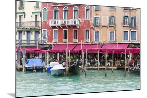 Gondolas and Restaurants at Grand Canal. Venice. Italy-Tom Norring-Mounted Photographic Print
