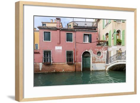 Bridge over Canal. Venice. Italy-Tom Norring-Framed Art Print