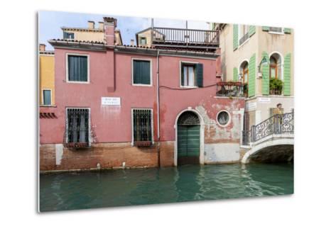 Bridge over Canal. Venice. Italy-Tom Norring-Metal Print