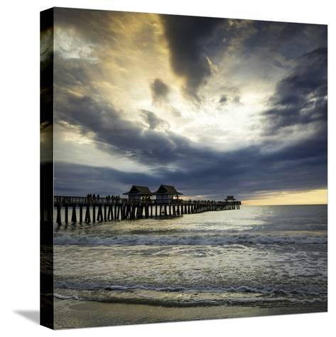 Evening over the Naples Pier and Gulf of Mexico, Naples, Florida, Usa-Brian Jannsen-Stretched Canvas Print