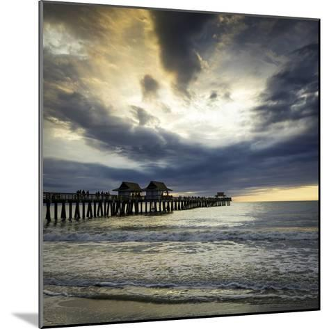 Evening over the Naples Pier and Gulf of Mexico, Naples, Florida, Usa-Brian Jannsen-Mounted Photographic Print