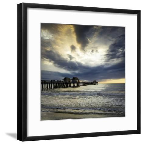 Evening over the Naples Pier and Gulf of Mexico, Naples, Florida, Usa-Brian Jannsen-Framed Art Print