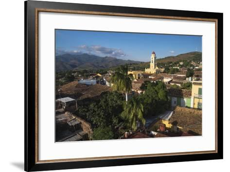Cuba, Trinidad. Rooftop View of the Colonial Town of Trinidad-Brenda Tharp-Framed Art Print