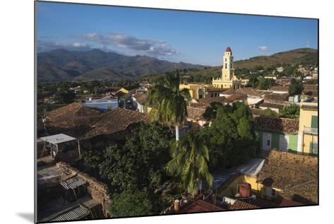 Cuba, Trinidad. Rooftop View of the Colonial Town of Trinidad-Brenda Tharp-Mounted Photographic Print