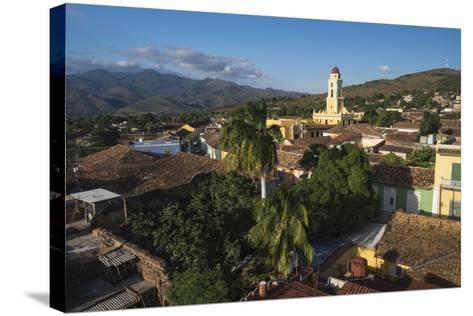 Cuba, Trinidad. Rooftop View of the Colonial Town of Trinidad-Brenda Tharp-Stretched Canvas Print