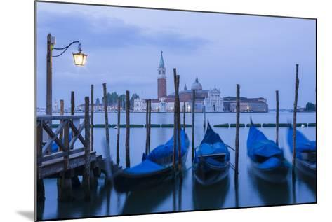 Italy, Venice. Dusk Falls on the Venice Lagoon with San Giorgio Maggiore Island in the Background-Brenda Tharp-Mounted Photographic Print