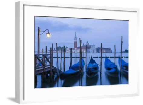 Italy, Venice. Dusk Falls on the Venice Lagoon with San Giorgio Maggiore Island in the Background-Brenda Tharp-Framed Art Print