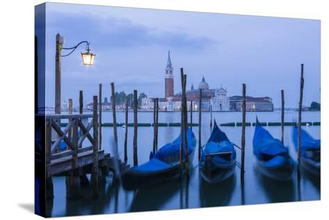 Italy, Venice. Dusk Falls on the Venice Lagoon with San Giorgio Maggiore Island in the Background-Brenda Tharp-Stretched Canvas Print