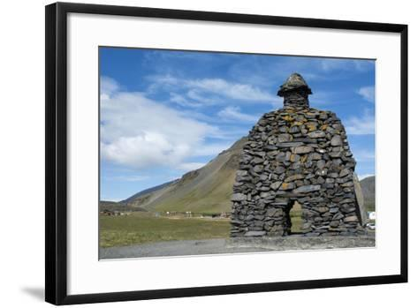 Tone Sculpture, Barour Snaefellsas a Character in Icelandic Sagas, Iceland-Cindy Miller Hopkins-Framed Art Print