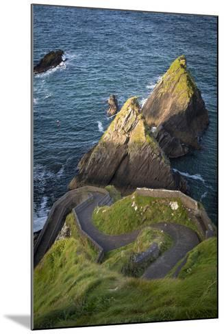 Windy Road to Dunquin Harbor, Dunquin, County Kerry, Republic of Ireland-Brian Jannsen-Mounted Photographic Print