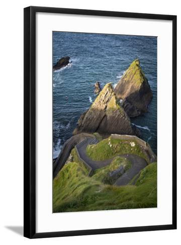 Windy Road to Dunquin Harbor, Dunquin, County Kerry, Republic of Ireland-Brian Jannsen-Framed Art Print