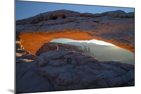 Utah. Overlook Vista Through Mesa Arch During Winter at Canyonlands National Park, Island in Sky-Judith Zimmerman-Mounted Photographic Print