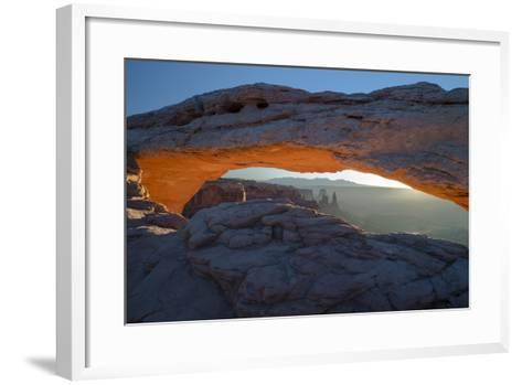 Utah. Overlook Vista Through Mesa Arch During Winter at Canyonlands National Park, Island in Sky-Judith Zimmerman-Framed Art Print