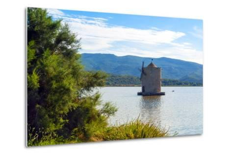 The Spanish Windmill on the Lagoon of Orbetello, Orbetello, Grosseto Province, Tuscany, Italy-Nico Tondini-Metal Print