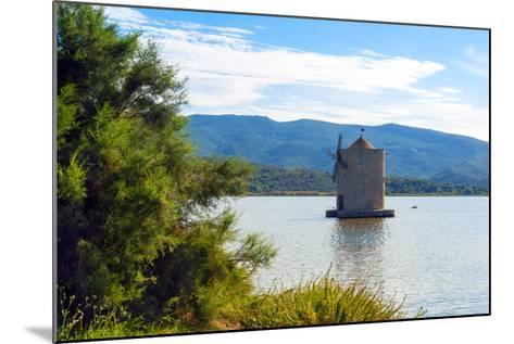 The Spanish Windmill on the Lagoon of Orbetello, Orbetello, Grosseto Province, Tuscany, Italy-Nico Tondini-Mounted Photographic Print
