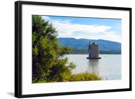 The Spanish Windmill on the Lagoon of Orbetello, Orbetello, Grosseto Province, Tuscany, Italy-Nico Tondini-Framed Art Print