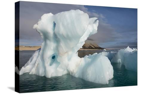 Norway, Barents Sea, Palander Bay, Zeipelodden. Large Iceberg in Palander Bay-Cindy Miller Hopkins-Stretched Canvas Print