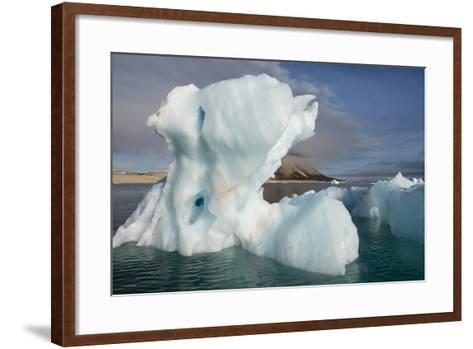 Norway, Barents Sea, Palander Bay, Zeipelodden. Large Iceberg in Palander Bay-Cindy Miller Hopkins-Framed Art Print
