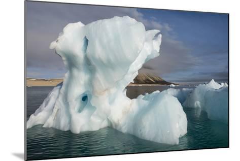 Norway, Barents Sea, Palander Bay, Zeipelodden. Large Iceberg in Palander Bay-Cindy Miller Hopkins-Mounted Photographic Print