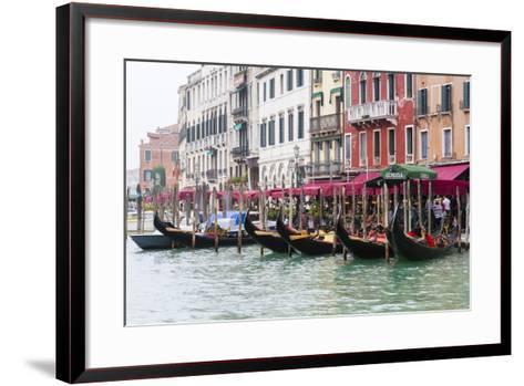Gondolas and Restaurants at Grand Canal. Venice. Italy-Tom Norring-Framed Art Print