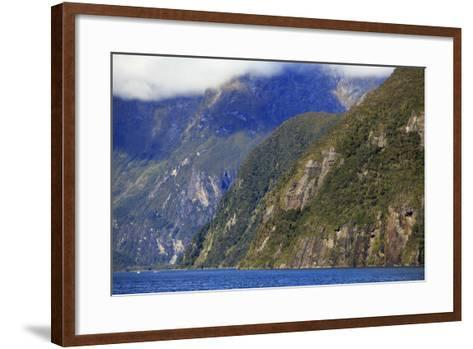 Towering Peaks and Narrow Gorge of Milford Sound on the South Island of New Zealand-Paul Dymond-Framed Art Print