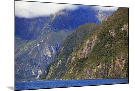 Towering Peaks and Narrow Gorge of Milford Sound on the South Island of New Zealand-Paul Dymond-Mounted Photographic Print